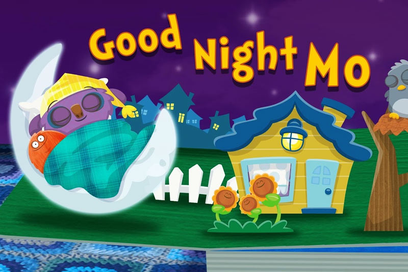 Goodnight Mo - a magically sleepy and comforting bedtime book available on the App Store and Google Play.