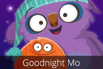 Goodnight Mo! kids' app by StoryToys. A magically sleepy and comforting bedtime book app for young children. App store icon image.