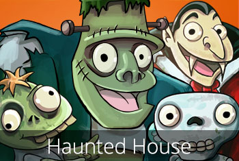 Haunted House Kids App - StoryToys Apps. A spooky activity app packed with ghoulish games , eerie activities and things that go bump in the night!!