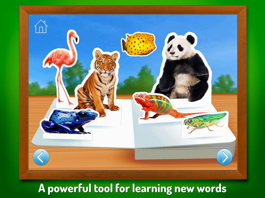 Zoo Animals - Touch, Look, Listen, an early learning kids' app by StoryToys. A powerful tool for learning new words.