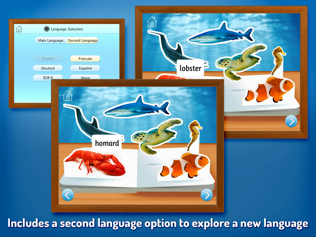 Zoo Animals - Touch, Look, Listen, an early learning kids' app by StoryToys. Includes a second language option to explore a new language.