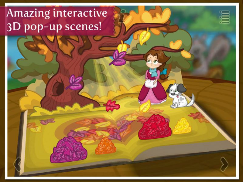 Beauty and the Beast - a 3D pop-up kids app by StoryToys. Amazing interactive 3D pop-up scenes.