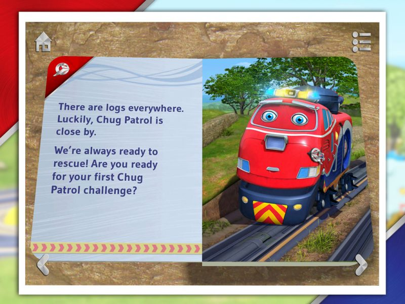Chug Patrol - Ready to Rescue, an interactive 3D pop-up storybook app for kids by StoryToys based on the popular TV series. Read the story then complete the challenges.