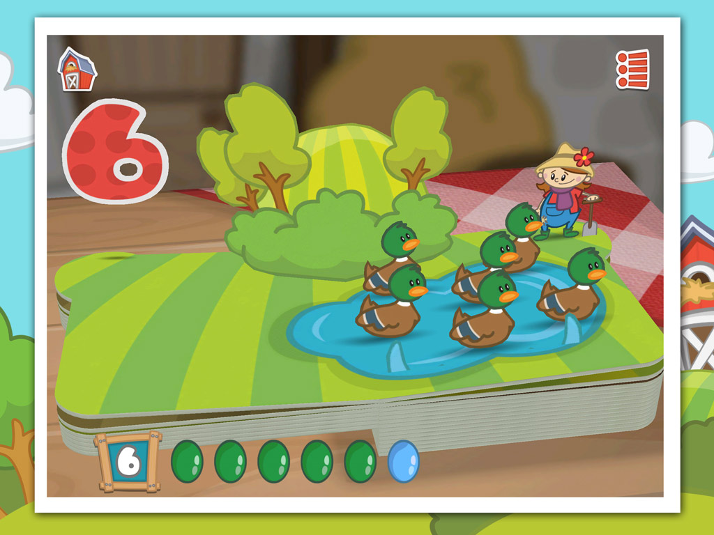 Farm 123 - an award-winning early-learning kids app by StoryToys. Learn to count the fun way in this 3D pop-up book app.