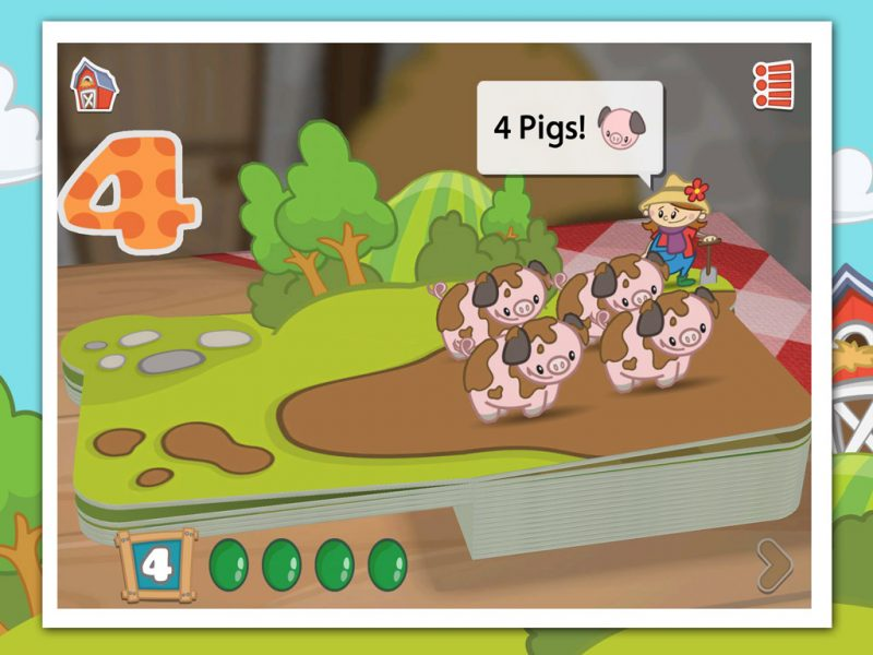 Farm 123 - an award-winning early-learning kids app by StoryToys. Learn to count by helping farmer Jo around the farm.