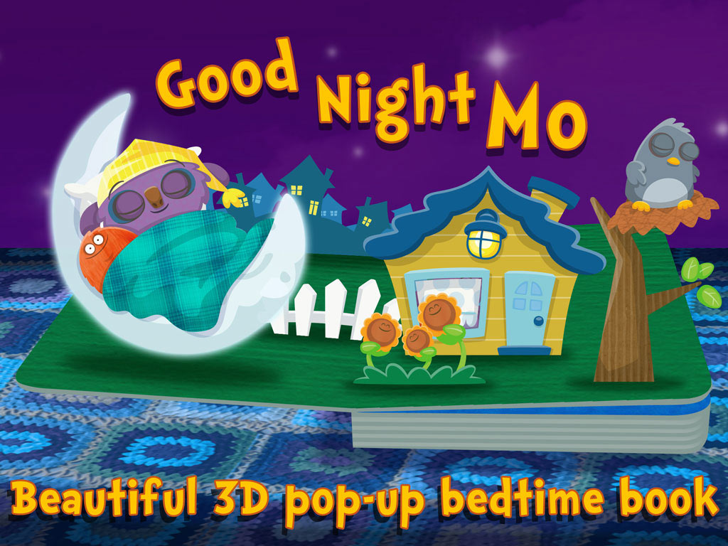Goodnight Mo! kids' app by StoryToys. A magically sleepy and comforting bedtime book app for young children.