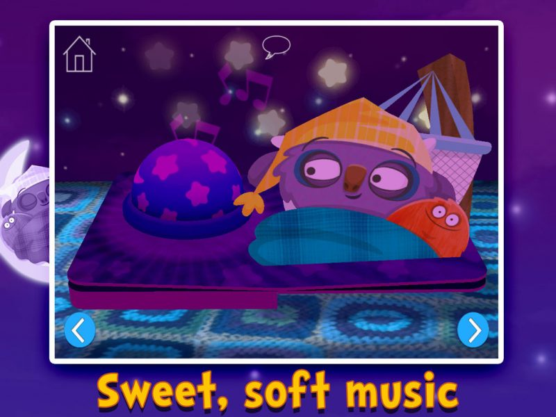 Goodnight Mo - a bedtime app by StoryToys including sweet, soft music.