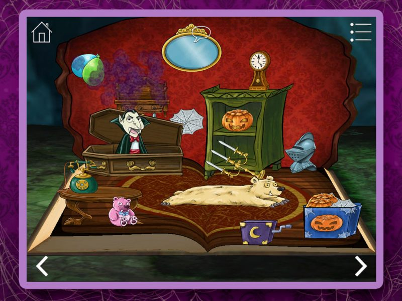 Haunted House Kids App - StoryToys Apps. Win Huante House badges with each ghoulish game.