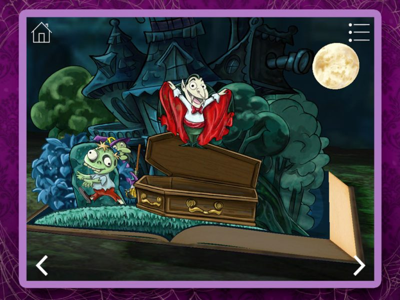 Haunted House Kids App - StoryToys Apps. Magical 2D pop-up book.