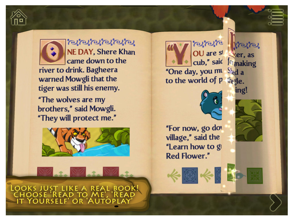 The Jungle Book - a 3D pop-up kids app by StoryToys. Looks just like a real book!