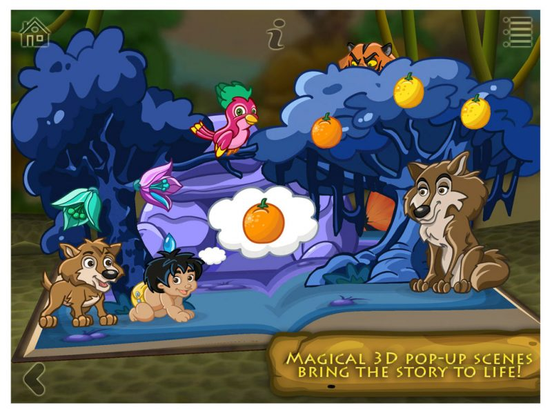 The Jungle Book - a 3D pop-up kids app by StoryToys. Magical 3D pop-up scenes bring the story to life.