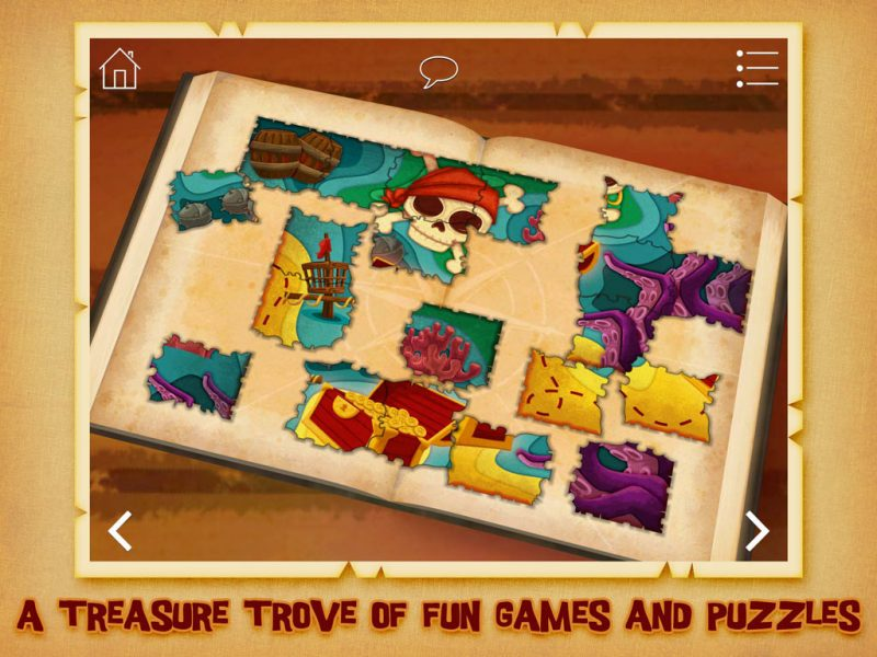 The Pirate Princess - kids' app and action-packed pirate adventure by StoryToys. A treasure trove of fun games and puzzles.
