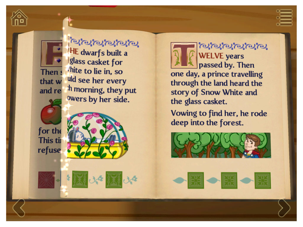 Grimm's Snow White - A 3D pop-up kids' app by StoryToys.