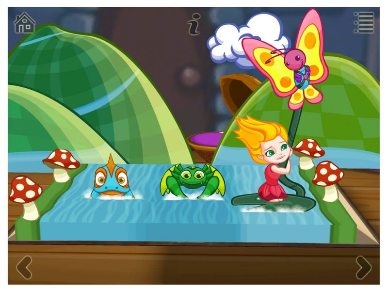Thumbelina - a 3D pop-up kids app by StoryToys.