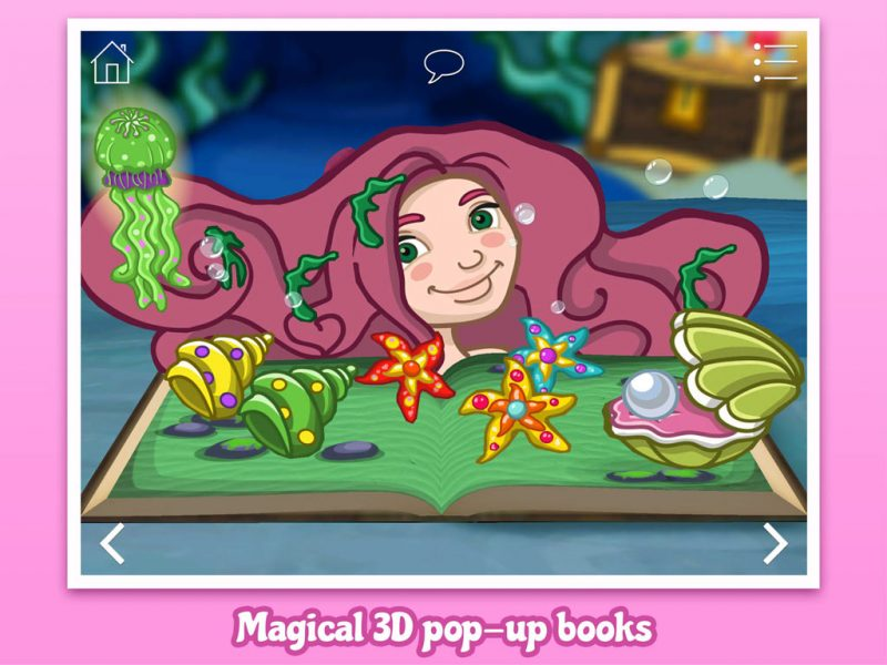 The Little Mermaid, a 3D pop-up kids app by StoryToys.