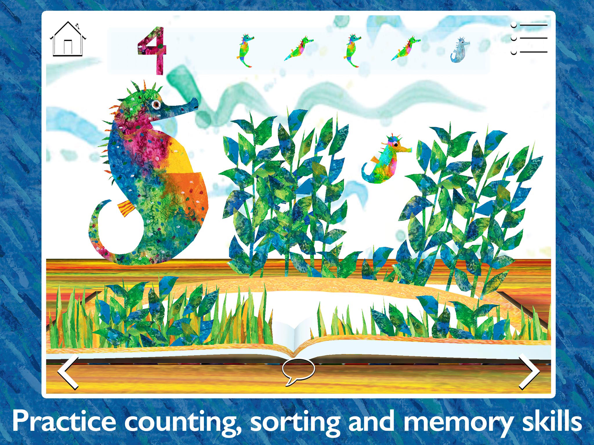 The Very Hungry Caterpillar & Friends - Play & Exploreapp for children by StoryToys. Play and explore with The Very Hungry Caterpillar and other much-loved characters created by Eric Carle. Practice counting, sorting and memory skills.