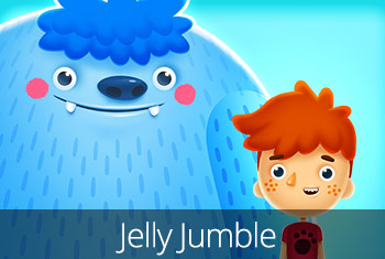 Jelly Jumble, a children's app by StoryToys . A matching game with an awesome story.