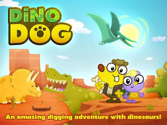 Dino Dog StoryToys App. An amazing digging adventure with dinosaurs.