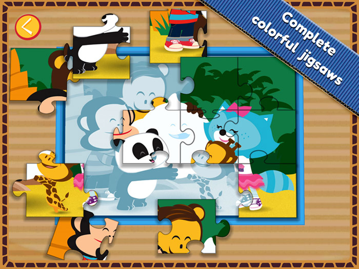 Julius Junior Kids App - StoryToys - complete colorful jigsaws