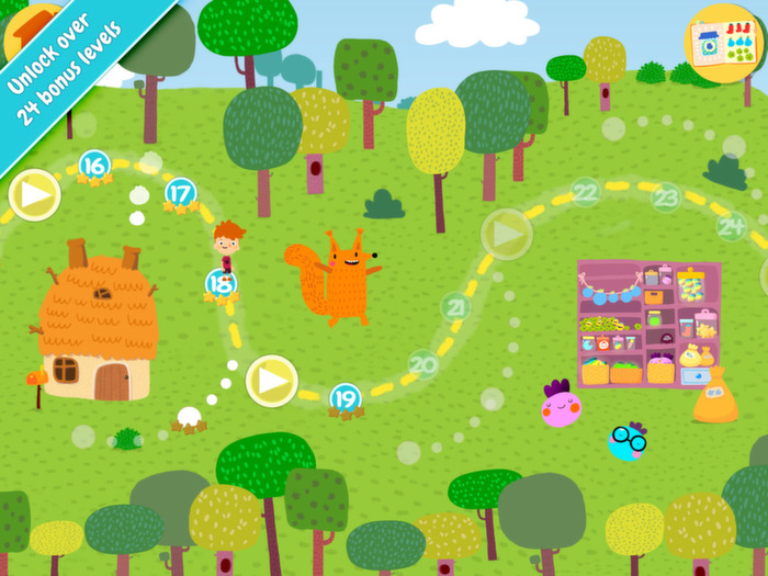 Jelly Jumble StoryToys Kids App. Unlock over 24 bonus levels