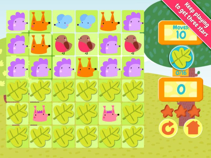 Jelly Jumble StoryToys Kids App. Win stars for each game played.
