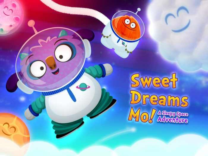 Sweet Dreams Mo, a bedtime app by StoryToys. A sleepy space adventure.