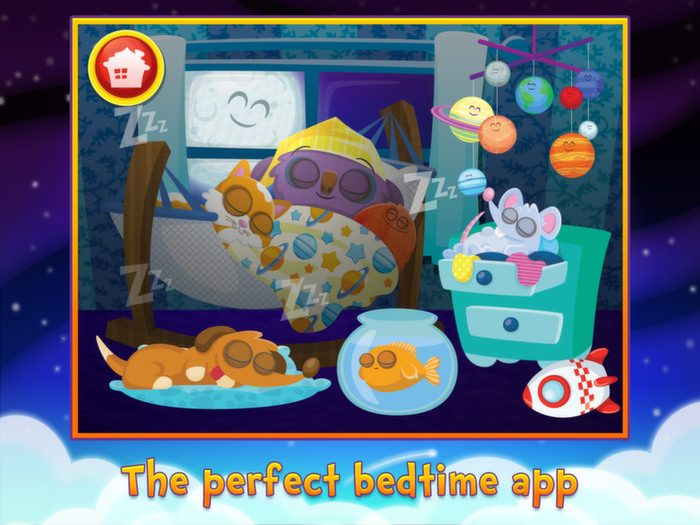 Sweet Dreams Mo, a bedtime app by StoryToys. The perfect bedtime app.