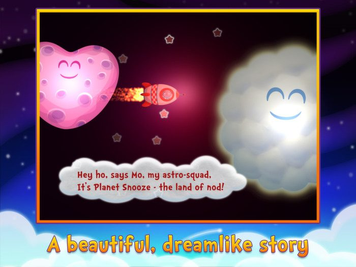 Sweet Dreams Mo, a bedtime app by StoryToys. A beautiful, dreamlike story.