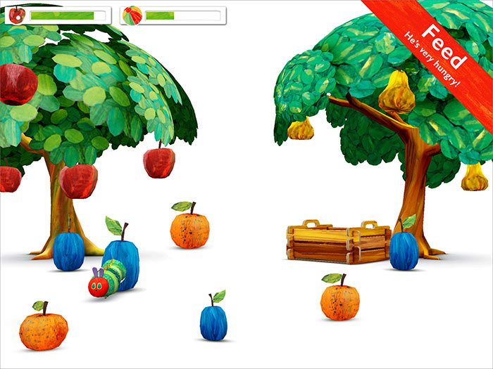 My Very Hungry Caterpillar - StoryToys, based on Eric Carle's much-loved character. Feed the caterpillar fruit from the trees and watch him grow.