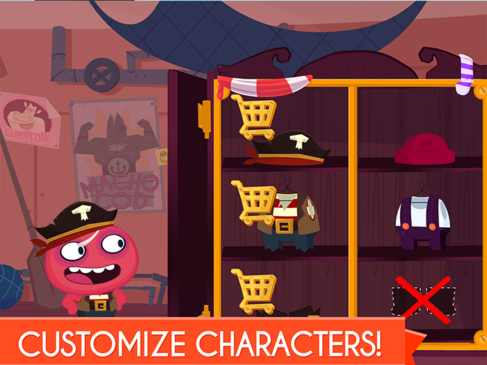 ShipAntics kids app by StoryToys. Customise the characters with outfits and accessories.