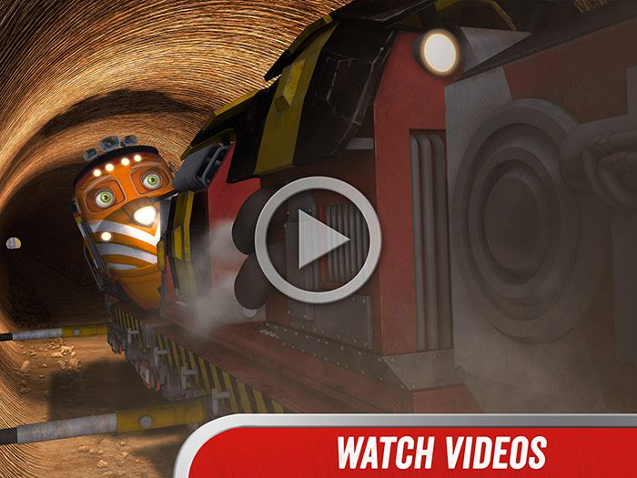 Chuggington - We are the Chuggineers screenshot showing an example of the video clips form the TV series