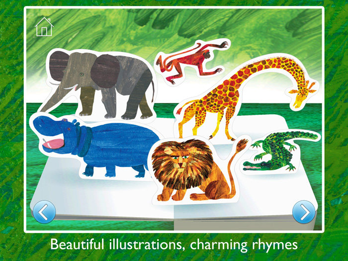The Very Hungry Caterpillar™ and Friends First Words screenshot showing beautiful illustrations by Eric Carle