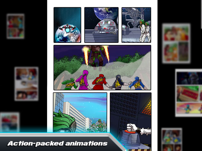 Power Rangers Dino Charge Rumble screenshot of action-packed animations