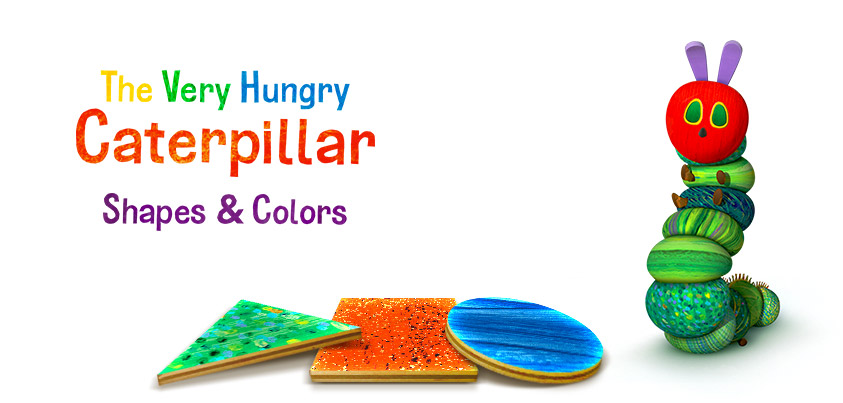 The Very Hungry Caterpillar - Shapes and Colors, a magical learning experience introducing preschoolers to shapes and colors.