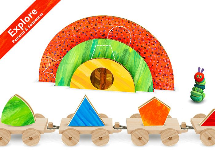 The Very Hungry Caterpillar - Shapes and Colors, a kids app by StoryToys helping children learn patterns and sequences.
