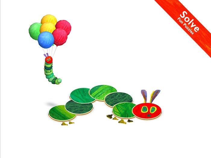 The Very Hungry Caterpillar - Shapes and Colors, a kids' app by StoryToys with fun puzzles to solve.
