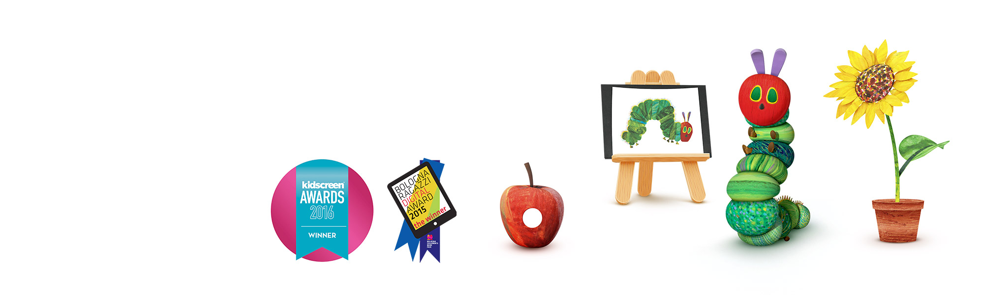 My Very Hungry Caterpillar winner of the BolognaRagazzi Digital award and the Kidscreen 2016 award